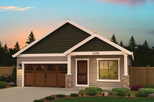 Ranch Exterior - Front Elevation Plan #943-46