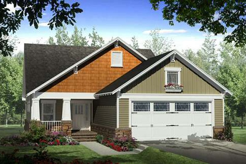 Craftsman Exterior - Front Elevation Plan #21-261