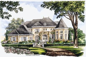 European Exterior - Front Elevation Plan #952-272