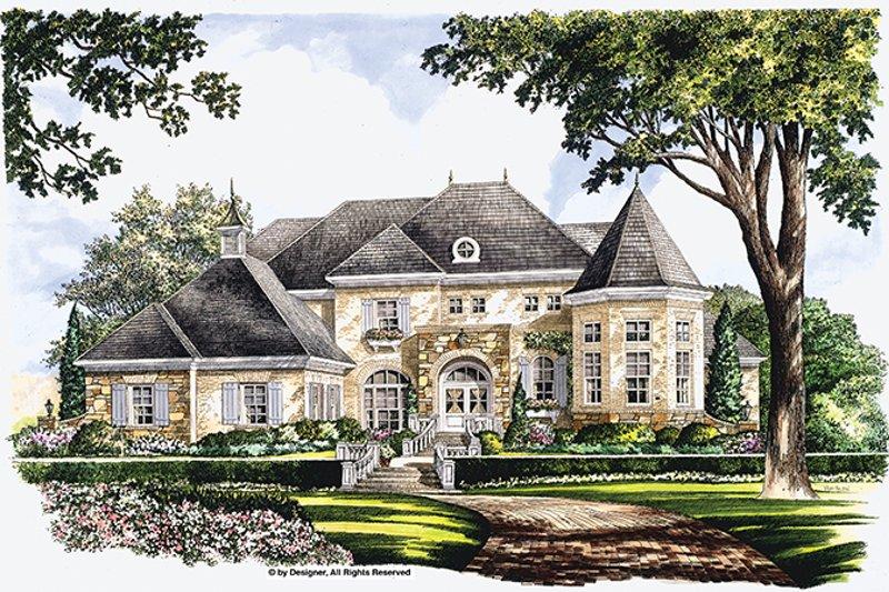 Architectural House Design - European Exterior - Front Elevation Plan #952-272