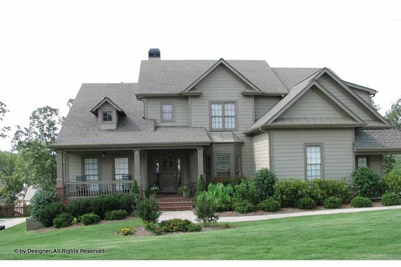 Traditional Exterior - Front Elevation Plan #54-344 - Houseplans.com