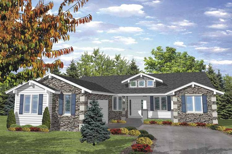 Ranch Exterior - Front Elevation Plan #320-837