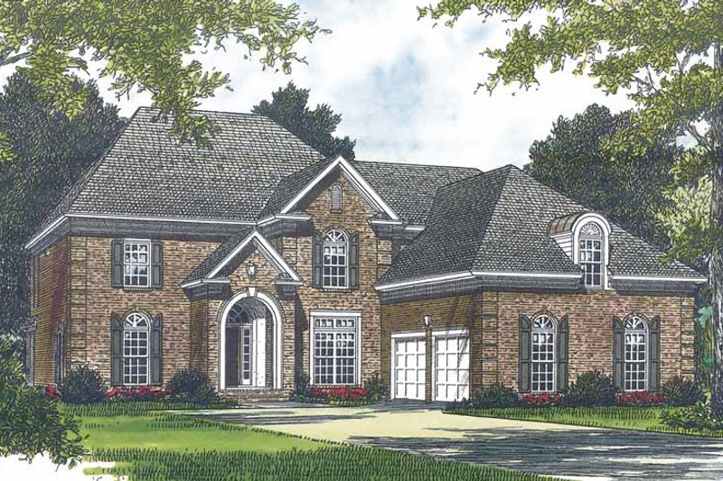 House Plan Design - Traditional Exterior - Front Elevation Plan #453-567