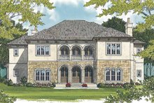 Mediterranean Exterior - Rear Elevation Plan #453-604