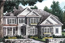 House Plan Design - Country Exterior - Front Elevation Plan #927-643