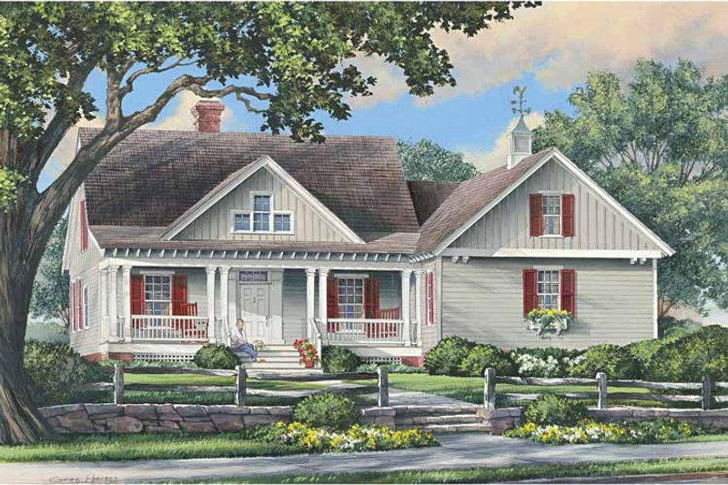 Traditional Exterior - Front Elevation Plan #137-340 - Houseplans.com