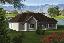 Dream House Plan - Ranch Exterior - Rear Elevation Plan #70-1079