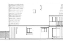 Architectural House Design - Contemporary Exterior - Rear Elevation Plan #47-1047