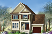 Traditional Style House Plan - 3 Beds 1 Baths 1591 Sq/Ft Plan #25-4483 Exterior - Front Elevation