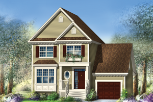 Traditional Exterior - Front Elevation Plan #25-4483
