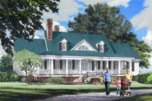 Dream House Plan - Farmhouse Exterior - Front Elevation Plan #137-282