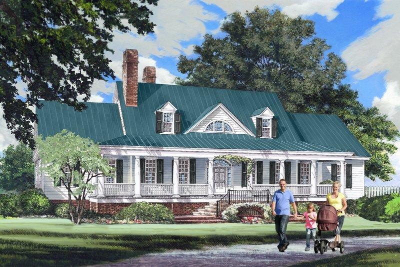 Farmhouse Exterior - Front Elevation Plan #137-282 - Houseplans.com