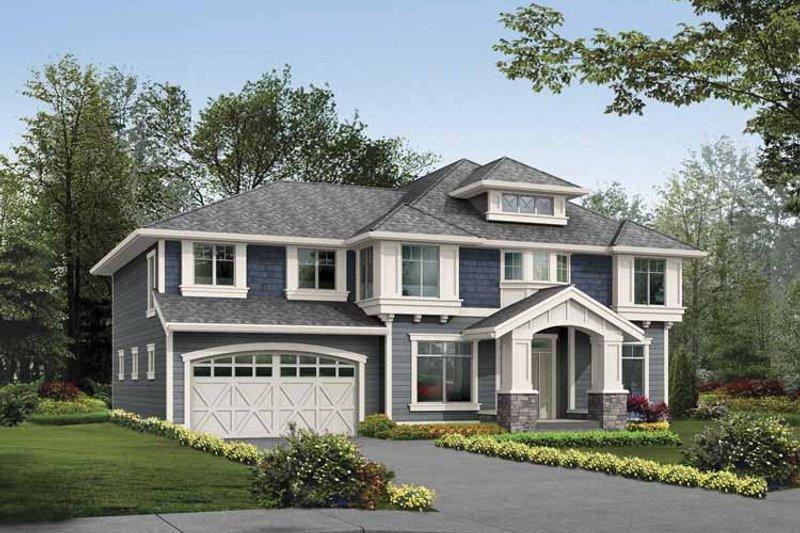 Dream House Plan - Prairie Exterior - Front Elevation Plan #132-381