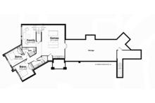 Contemporary Floor Plan - Lower Floor Plan Plan #928-255