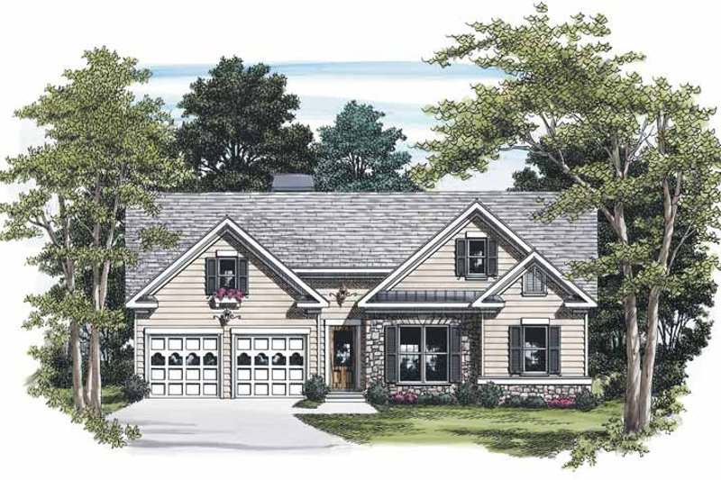 Ranch Exterior - Front Elevation Plan #927-450
