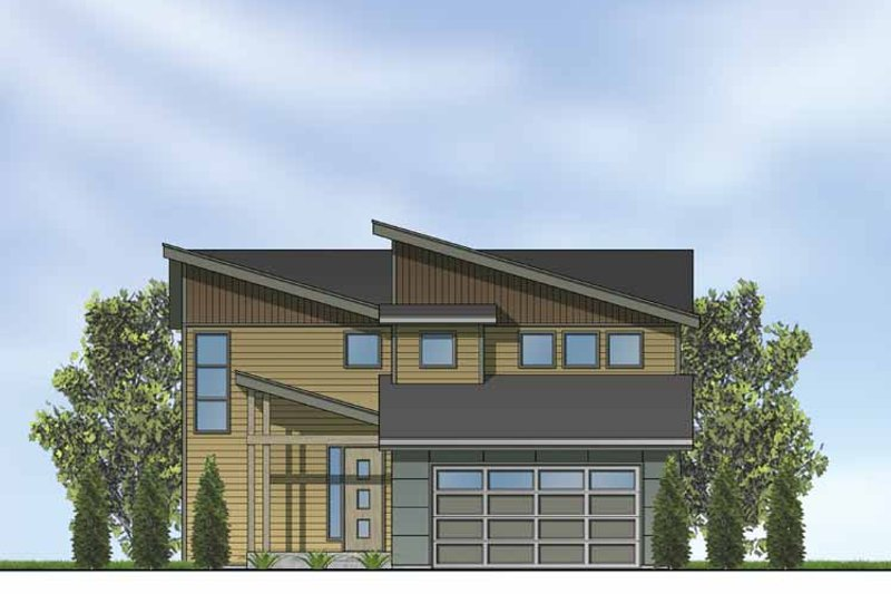 Home Plan - Contemporary Exterior - Front Elevation Plan #569-10
