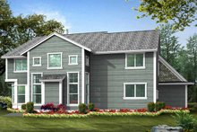Country Exterior - Rear Elevation Plan #132-437