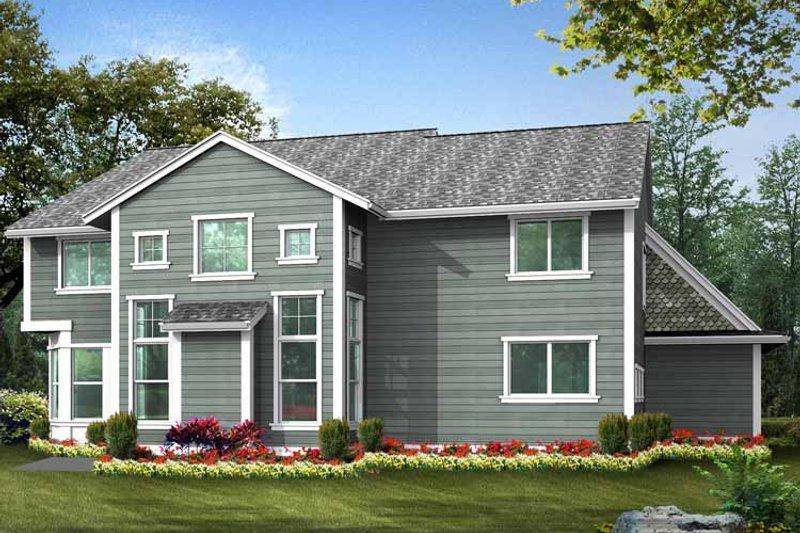 Country Exterior - Rear Elevation Plan #132-437 - Houseplans.com