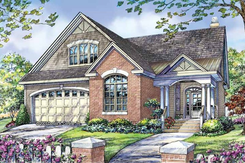 Country Exterior - Front Elevation Plan #929-784 - Houseplans.com