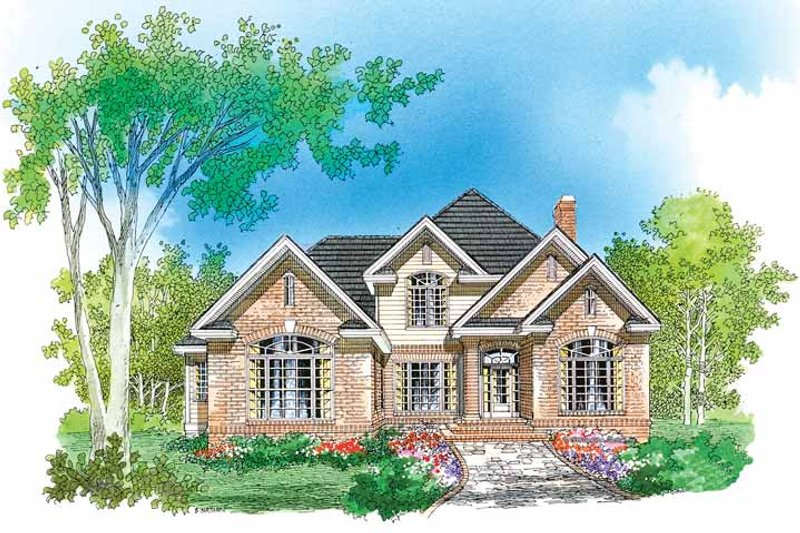 Traditional Exterior - Front Elevation Plan #929-564 - Houseplans.com