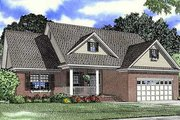 Country Style House Plan - 3 Beds 2 Baths 1710 Sq/Ft Plan #17-1165 Exterior - Front Elevation
