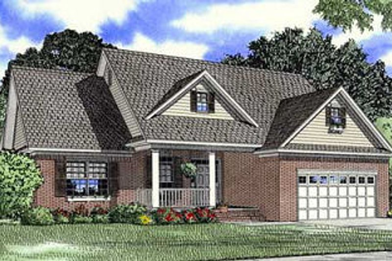 Country Style House Plan - 3 Beds 2 Baths 1710 Sq/Ft Plan #17-1165