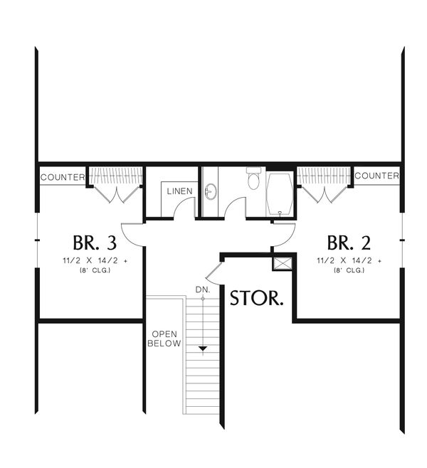 Cottage Floor Plan - Upper Floor Plan Plan #48-633