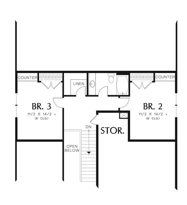 Cottage Floor Plan - Upper Floor Plan Plan #48-633