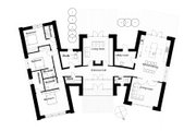 Modern Style House Plan - 3 Beds 3 Baths 2328 Sq/Ft Plan #520-6 Floor Plan - Main Floor Plan