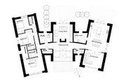 Modern Style House Plan - 3 Beds 3 Baths 2328 Sq/Ft Plan #520-6 Floor Plan - Main Floor