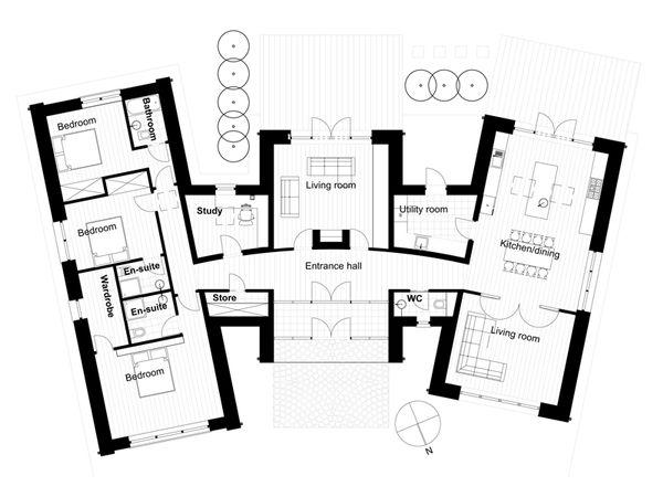 Modern Floor Plan - Main Floor Plan #520-6