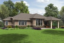 Prairie Exterior - Rear Elevation Plan #48-684