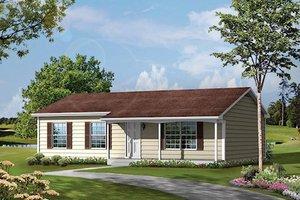 Cottage Exterior - Front Elevation Plan #57-533