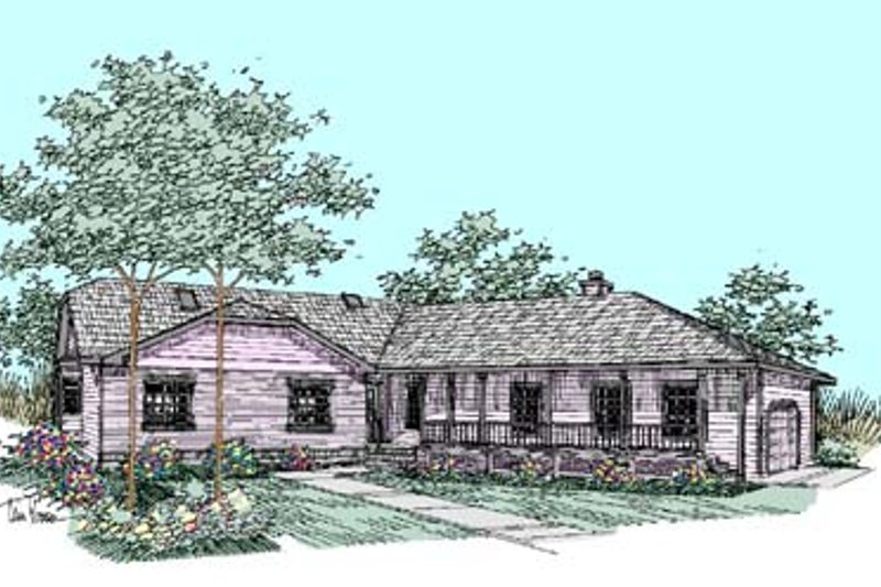 Ranch Exterior - Front Elevation Plan #60-461