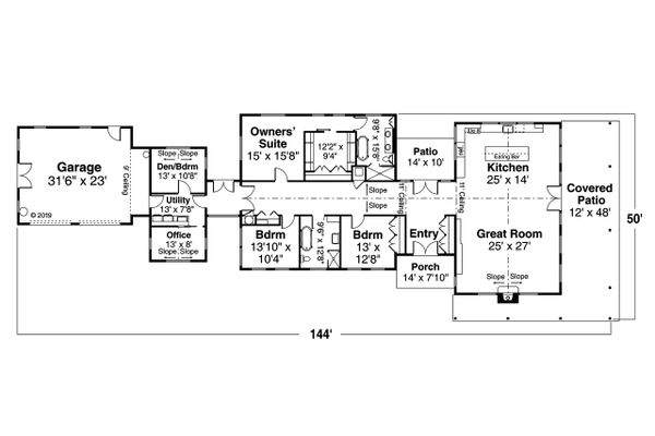 Craftsman Floor Plan - Main Floor Plan #124-1202