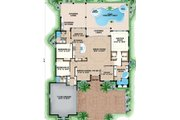 Mediterranean Style House Plan - 3 Beds 3 Baths 2584 Sq/Ft Plan #27-550