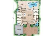 Mediterranean Style House Plan - 3 Beds 3 Baths 2584 Sq/Ft Plan #27-550 Floor Plan - Main Floor Plan