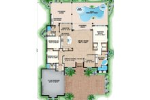 Mediterranean Floor Plan - Main Floor Plan Plan #27-550