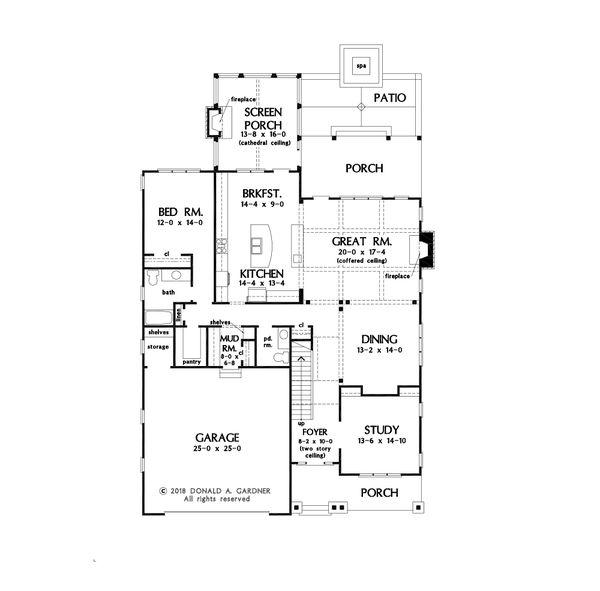 Dream House Plan - Farmhouse Floor Plan - Main Floor Plan #929-1120