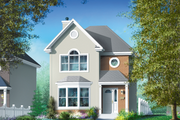 European Style House Plan - 2 Beds 1.5 Baths 1302 Sq/Ft Plan #25-2067 Exterior - Front Elevation