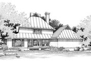 Beach Style House Plan - 3 Beds 4 Baths 1872 Sq/Ft Plan #45-191 Exterior - Rear Elevation