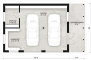 Contemporary Style House Plan - 0 Beds 0 Baths 724 Sq/Ft Plan #924-8 Floor Plan - Main Floor