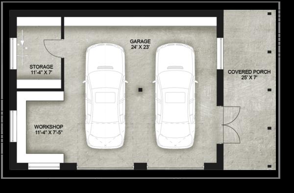 Contemporary Floor Plan - Main Floor Plan Plan #924-8