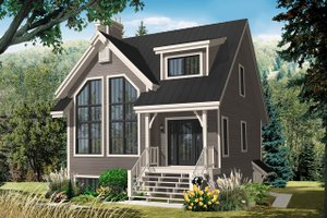 Country Exterior - Front Elevation Plan #23-2419
