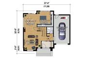 Contemporary Style House Plan - 3 Beds 1 Baths 1464 Sq/Ft Plan #25-4313 Floor Plan - Main Floor Plan