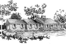 Country Exterior - Front Elevation Plan #10-131