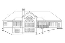 Mediterranean Exterior - Rear Elevation Plan #57-305