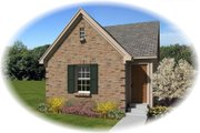 Traditional Style House Plan - 3 Beds 2 Baths 1122 Sq/Ft Plan #81-13857 Exterior - Front Elevation
