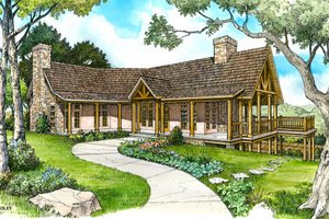 Country Exterior - Front Elevation Plan #140-111