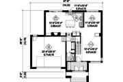 Contemporary Style House Plan - 3 Beds 2.5 Baths 2575 Sq/Ft Plan #25-4481 Floor Plan - Main Floor Plan